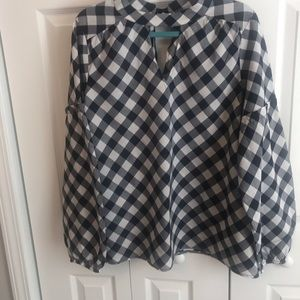 Women's Crown & Ivy checked blouse size L